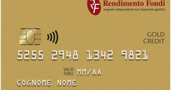 Rendimentofondi gold credit card